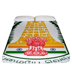 Seal Of Indian State Of Tamil Nadu  Fitted Sheet (california King Size) by abbeyz71