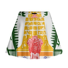 Seal Of Indian State Of Tamil Nadu  Mini Flare Skirt by abbeyz71
