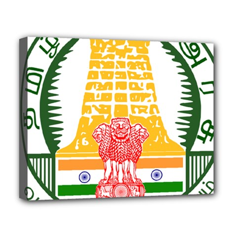 Seal Of Indian State Of Tamil Nadu  Deluxe Canvas 20  X 16   by abbeyz71