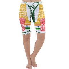 Seal Of Indian State Of Tamil Nadu  Cropped Leggings  by abbeyz71