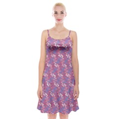 Pattern Abstract Squiggles Gliftex Spaghetti Strap Velvet Dress