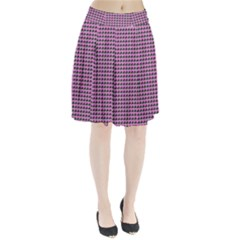 Pattern Grid Background Pleated Skirt