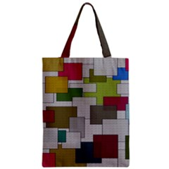 Decor Painting Design Texture Zipper Classic Tote Bag by Nexatart