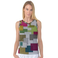 Decor Painting Design Texture Women s Basketball Tank Top by Nexatart