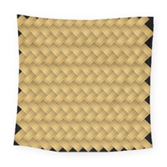 Wood Illustrator Yellow Brown Square Tapestry (large) by Nexatart