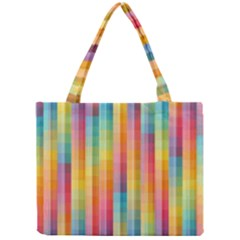 Background Colorful Abstract Mini Tote Bag by Nexatart
