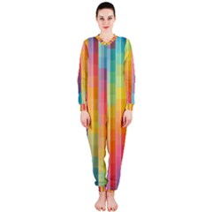 Background Colorful Abstract Onepiece Jumpsuit (ladies)