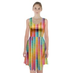 Background Colorful Abstract Racerback Midi Dress