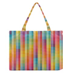 Background Colorful Abstract Medium Zipper Tote Bag