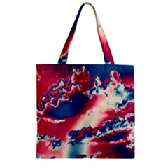 Sky Pattern Zipper Grocery Tote Bag by Valentinaart