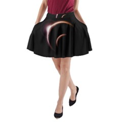 Planet Space Abstract A Line Pocket Skirt by Nexatart