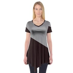 Course Gradient Color Pattern Short Sleeve Tunic