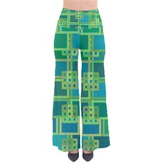 Green Abstract Geometric Pants by Nexatart