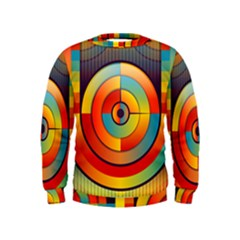 Abstract Pattern Background Kids  Sweatshirt