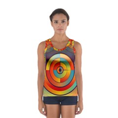 Abstract Pattern Background Women s Sport Tank Top