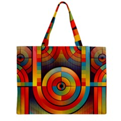 Abstract Pattern Background Medium Zipper Tote Bag by Nexatart
