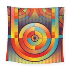 Abstract Pattern Background Square Tapestry (large)
