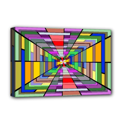 Art Vanishing Point Vortex 3d Deluxe Canvas 18  X 12   by Nexatart