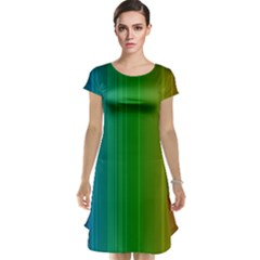 Spectrum Colours Colors Rainbow Cap Sleeve Nightdress