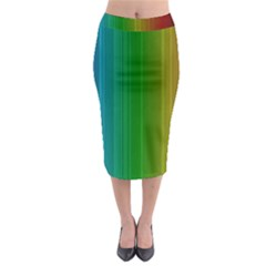 Spectrum Colours Colors Rainbow Midi Pencil Skirt