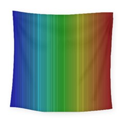 Spectrum Colours Colors Rainbow Square Tapestry (large) by Nexatart