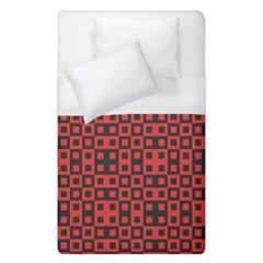 Abstract Background Red Black Duvet Cover (single Size)