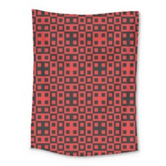 Abstract Background Red Black Medium Tapestry