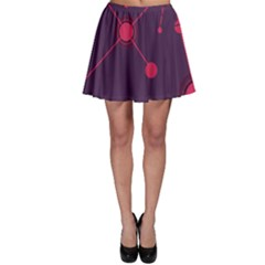 Abstract Lines Radiate Planets Web Skater Skirt by Nexatart