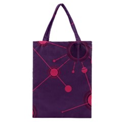 Abstract Lines Radiate Planets Web Classic Tote Bag by Nexatart