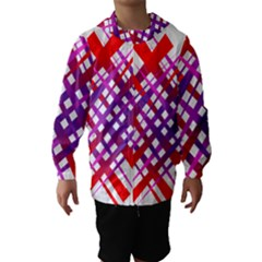 Chaos Bright Gradient Red Blue Hooded Wind Breaker (kids)