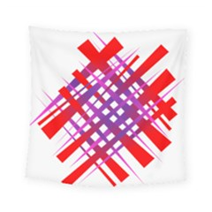 Chaos Bright Gradient Red Blue Square Tapestry (small) by Nexatart