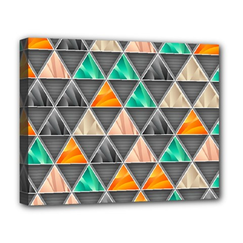 Abstract Geometric Triangle Shape Deluxe Canvas 20  X 16