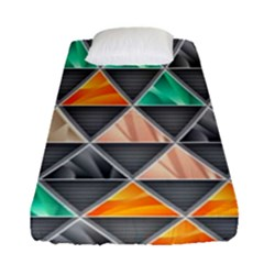 Abstract Geometric Triangle Shape Fitted Sheet (single Size) by Nexatart