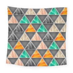 Abstract Geometric Triangle Shape Square Tapestry (large) by Nexatart