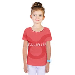 Zodizc Taurus Red Kids  One Piece Tee by Mariart