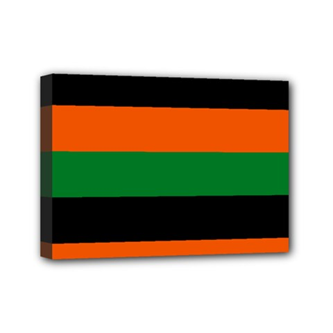 Color Green Orange Black Mini Canvas 7  X 5  by Mariart