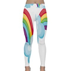 Could Rainbow Red Yellow Green Blue Purple Classic Yoga Leggings by Mariart