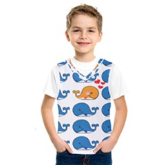 Fish Animals Whale Blue Orange Love Kids  Sportswear by Mariart