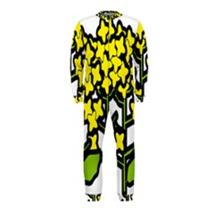 Flower Floral Sakura Yellow Green Leaf Onepiece Jumpsuit (kids) by Mariart