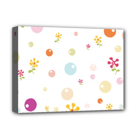Flower Floral Star Balloon Bubble Deluxe Canvas 16  X 12   by Mariart