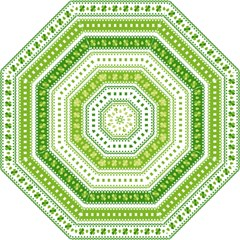 Flower Floral Green Shamrock Folding Umbrellas by Mariart