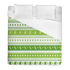 Flower Floral Green Shamrock Duvet Cover (full/ Double Size) by Mariart