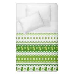 Flower Floral Green Shamrock Duvet Cover (single Size) by Mariart
