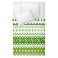 Flower Floral Green Shamrock Duvet Cover Double Side (single Size) by Mariart