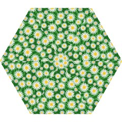 Flower Sunflower Yellow Green Leaf White Mini Folding Umbrellas by Mariart
