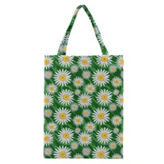 Flower Sunflower Yellow Green Leaf White Classic Tote Bag by Mariart