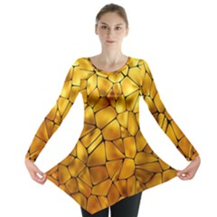 Gold Long Sleeve Tunic  by Mariart