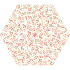 Flower Floral Red Star Sunflower Mini Folding Umbrellas by Mariart