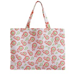 Flower Floral Red Star Sunflower Zipper Mini Tote Bag by Mariart