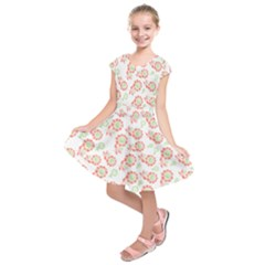 Flower Floral Red Star Sunflower Kids  Short Sleeve Dress by Mariart